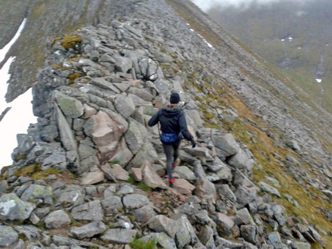 on the ridge