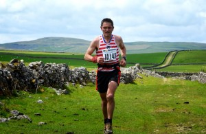 Karl on his way to earning his England Vest, photo courtesy of the Woodheads