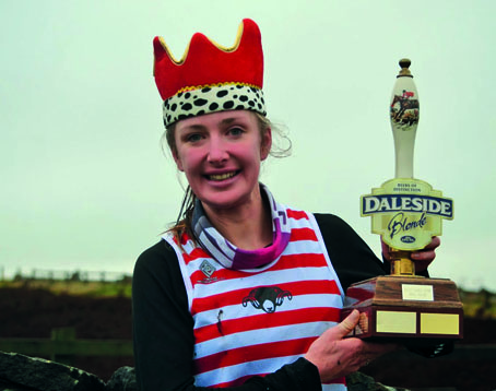 Queen Holly with her ALS trophy. Courtesy of www.woodentops.org.uk