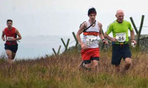 Richard on his way to victory with Joe running well for 3rd