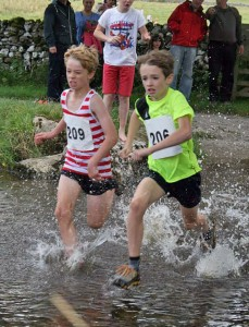 James showing gritty determination to win his junior race