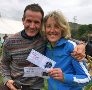 Phil & Jackie with their well earned vouchers
