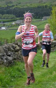 Happy fastest ladies leg 5 pair Anne & Lindsey. www.woodentops.org.uk