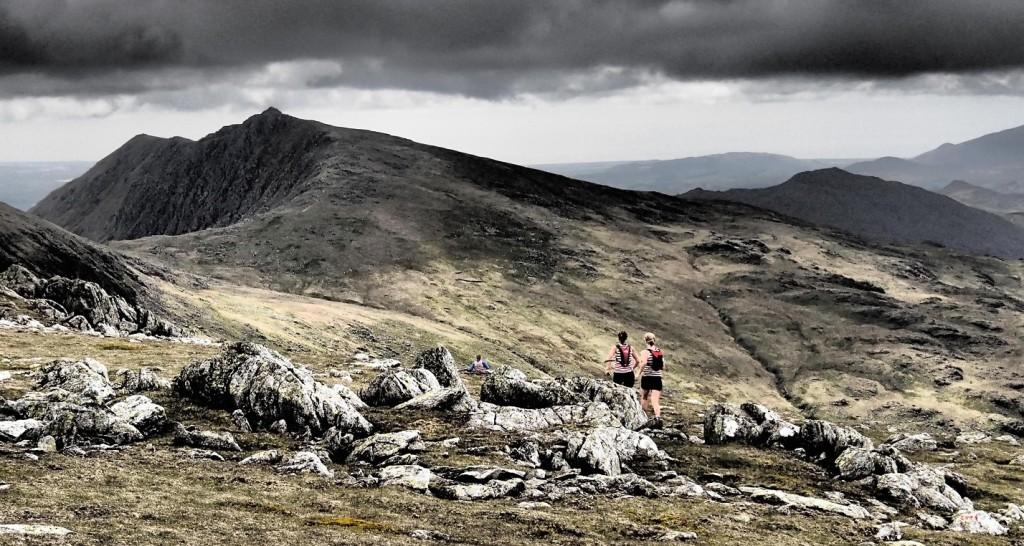 Gayle and Jo, Duddon Long Fell Race (By Amanda Seims)