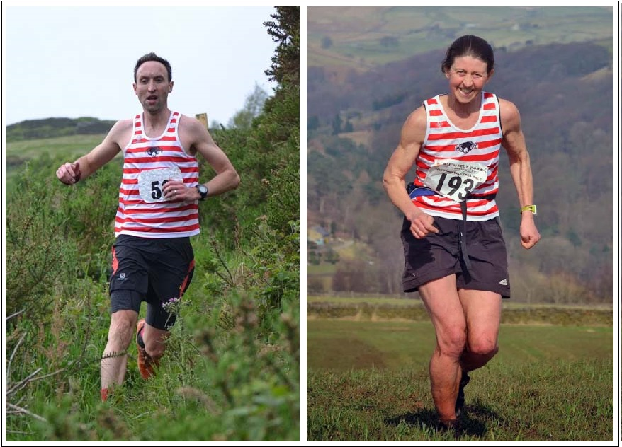 Calder Valley's Ben Mounsey and Jo Buckley at Lee Mill