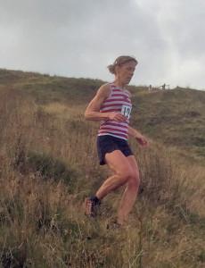 Gayle Sugden Descending Thieveley Pike 2015
