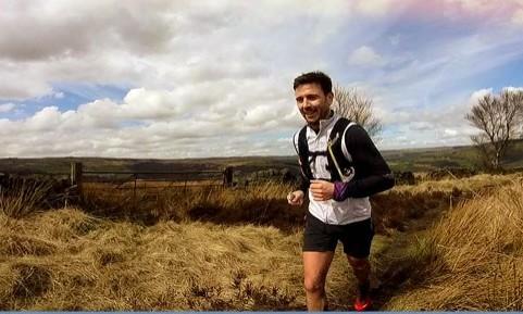 Ben Frechette heading for victory on the Calderdale hike