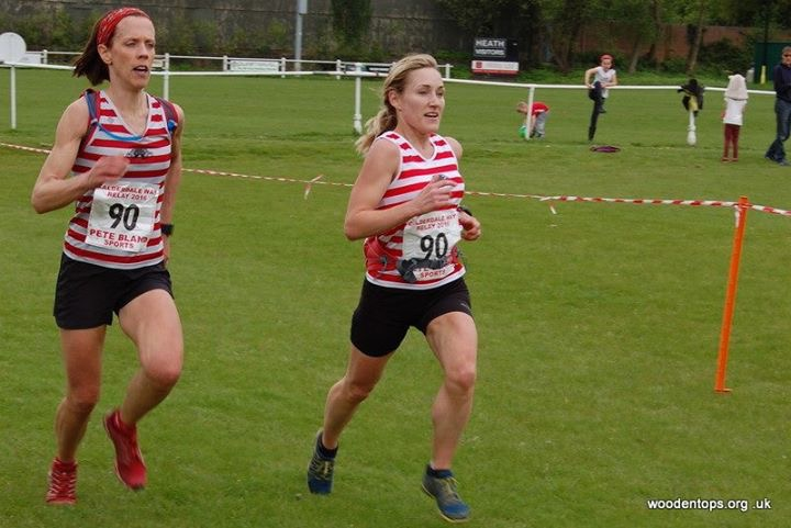 Lucy and Gayle breaking the Leg6 Course Record