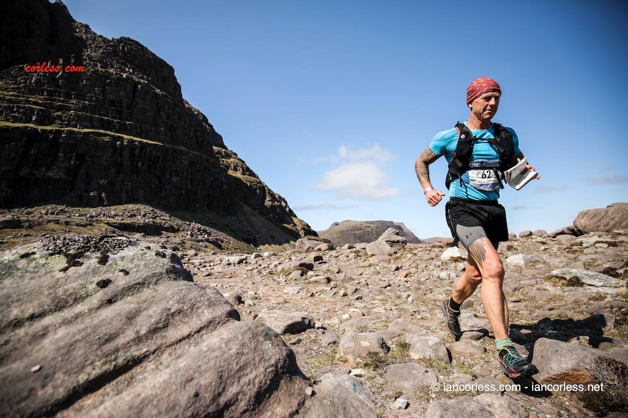 J. Minta, cruising along the mountainous Scottish trials on the 8 day Cape Wrath Ultra