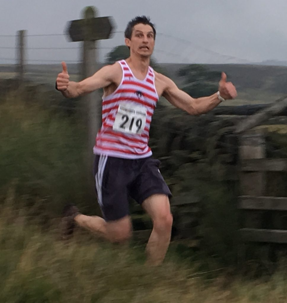 Romas, enjoying the reverse on the crow hill fell race.