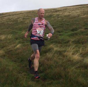 John Minta on the final run in