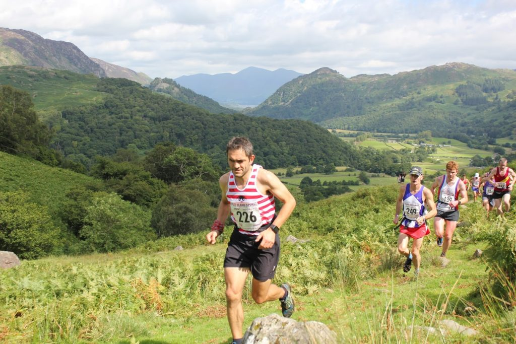 Karl Gray at the base Bessy boot in Borrowdale