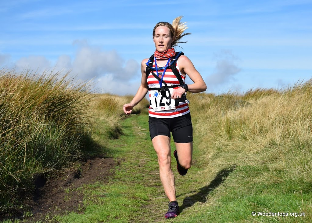Lucy Collins with the Yorkshireman Marathon 2016