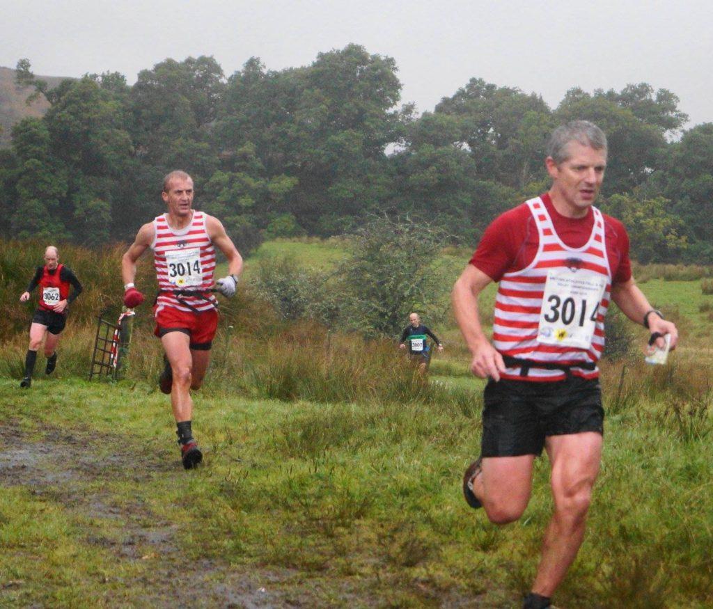 James Logue and Darren Kay navigating Leg3 at the British fell relays